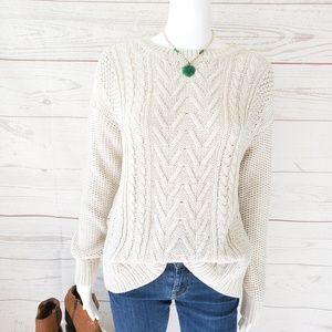 Urban Outfitters BDG fisherman cable knit sweater